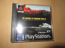 F1 World Grand Prix Game UK PAL Sony Playstation 1 PS1 mint collectors