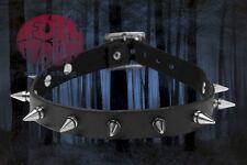 New Punk Rock Gothic Women Black Leather Choker Spike Rivet Collar Necklace