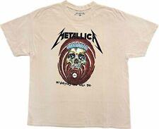New Men's Metallica In Vertigo You Will Be Tan Vintage Retro T-Shirt Tee