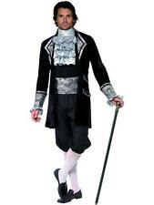 Mens Halloween Fancy Dress Costume  Baroque Vampire Med