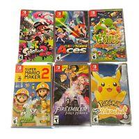 Nintendo Switch Game CHOOSE Yoshi Crafted World Pokemon Mario Splatoon SEALED