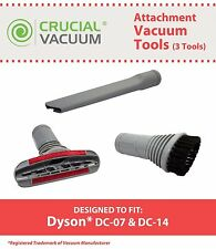 3 Vacuum Dyson DC07/DC14 Crevice Upholstery Dusting Brush Attachment Tools