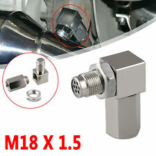 NEW 90°O2 Oxygen Sensor Spacer Engine Light CEL Check Bung Catalytic Converter.