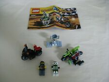 Lego WORLD RACERS 8896: SNAKE CANYON: MOTORCYCLES..MINIFIGS & INSTRUCTIONS