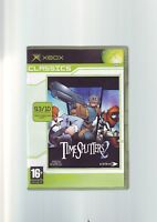 TIMESPLITTERS 2 - ORIGINAL XBOX FPS SHOOTER GAME - COMPLETE WITH MANUAL - VGC