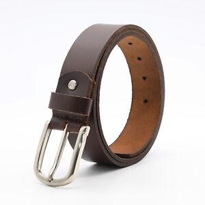 Leather Mens Belt stylish Strap Full Grain Black Brown blue Jeans Denim Formal