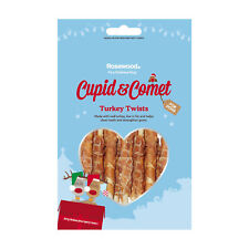 Cupid & Comet Christmas Dental Treat For Dogs Turkey Twists 8pcs 85g