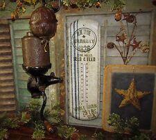 Primitive Antique Vtg Style Farmhouse GRAIN SACK 1836 SEED Thermometer Gift Idea