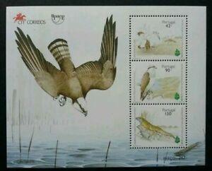 [SJ] Portugal European Conservation Of Nature- Birds 1995 Eagle (ms) MNH