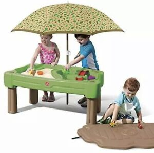 Step2 Cascading Cove Sand & Water Table with Umbrella | Kids Sand & Water Table