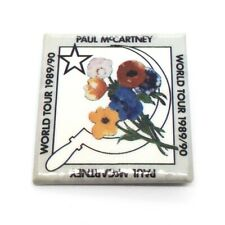 More details for real paul mccartney 1989-1990 world tour concert pin badge the beatles vintage