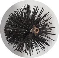 """CFC038 9"""" dia Polypropylene Pull Thru Flue Brush; Black"""