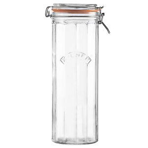 Kilner Glass 2.2L Food Storage Pasta Spaghetti Canister Airtight Pickling Jar