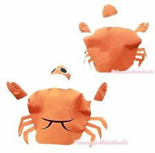 Halloween Party Orange Crab Ocean Sea 2PC Kids Child School Play Unisex Costume
