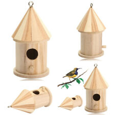 Hanging Wooden Bird House For Outdoor Small Pet Birds Mini Nesting Box Birdhouse