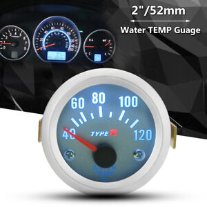 2'' 52mm Water Temp Temperature Gauge LCD Meter Auto Car Truck Motor 40°C-120°C