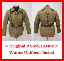 ☆ Original ☭ Soviet Russian Red Army Winter Uniform Jacket + Belt + Suspenders ☆