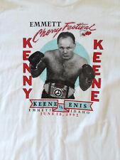 Vintage Boxing Match Event T-Shirt Kenny Keene Emmett Idaho 1992 XL