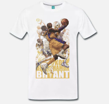 T-SHIRT MAGLIA LEGGENDE BASKET NBA LOS ANGELES LAKERS KOBE BRYANT BLACK MAMBA 1