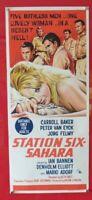STATION SIX SAHARA ORIGINAL 1963 CINEMA DAYBILL FILM POSTER Carroll Baker RARE