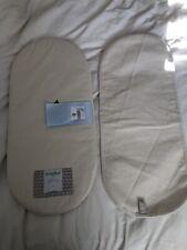 Organic Cotton Little Green Sheep Moses Basket Pram Carry Cot Mattress Bundle