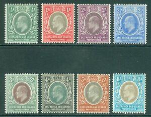 SG 1-8 East Africa & Uganda protectorate 1903-04. ½a-8a. Fine mounted mint