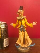 Vintage Resin plastic Clown Figurine Made In Italy very nice