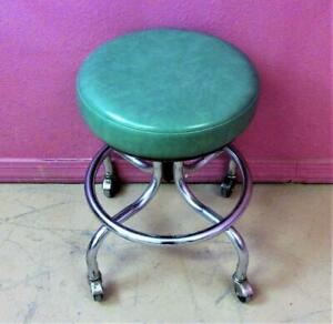 "Pedigo P-36 Chrome 19-25"" Adjustable Height Medical Dental Industrial Exam Stool"