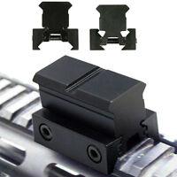 "2PCs 1"" Rail Riser Block Mount for 20mm Picatinny / Weaver Rails 11mm Dovetail"