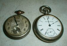 Lot-2 Vintage ELGIN National Watch Co. Antique Pocket Watches BOTH need Repair