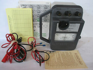 James G. Biddle Major Megger Insulation Tester # 21159 w/ Leads and Manual