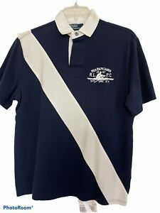 New polo Ralph Lauren Small Pony Classic  Fit Rowing Navy Shirt