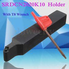 SRDCN2020K10 Lathe Turning Tool Holder + T8 Wrench for RCMT/RCGT Inserts