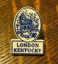 London KY Lapel Pin - Vintage Kentucky City USA Laurel County Souvenir Badge Pin