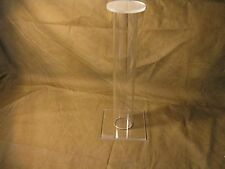 SIX 12' Tall Acrylic Civil Indian War & WW2 Relic Helmet Hat Cap Display Stands