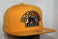 Boston Bruins Mitchell & Ness NHL Vintage Wool Solid 2 Snapback,Hat,Cap      NEW
