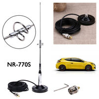 770S Antenna+Magnetic Mount Base UHF-M Cable+Connector for Car Mobile Radio New