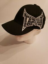 TAPOUT S/M Stretch Hat Black Large Logo Spell Out Tek Flex Brand
