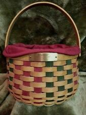 Longaberger Christmas Collection 2003 Caroling Basket - Excellent Condition