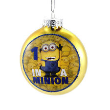 Despicable Me-Minion Ornament-Glass  By Kurt Adler-Yellow One in a Minion!