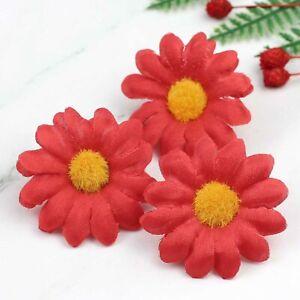 """2"""" 50P Lot Artificial Silk Gerbera Flowers Daisy Sunflower Heads Wedding Decor"""