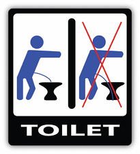 """Do Not Piss Part The Toilet Warning Educative Car Bumper Sticker Decal 5"""" x 5"""""""