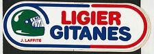 LIGIER GITANES JACQUES LAFFITE JS17 ORIGINAL PERIOD RACING STICKER AUTOCOLLANT