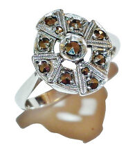 Stamped 'SILVER', Sterling Silver & Marcasite Dress Ring - UK Size: M 1/2