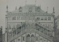 BLEISTIFT ZEICHNUNG Bern Rathaus vor 1910 ca. 23 x 16 cm Karl Ehlers