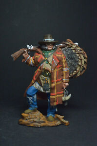 Tin soldiers figure American trapper, 18th-19th centuries 54mm