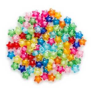 Random Mixed Acrylic Star Shaped Spacer Beads Jewelry Making Findings 12-35mm