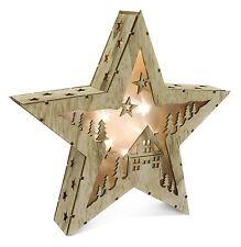 Illuminato Alpine HOUSE illuminare Tagliata Natale LED Decorazione Stella 20cm