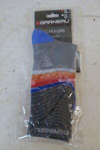 Louis Garneau Tuscan X-long Cycling Socks S/M Gray/Blue