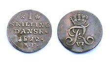 1 Skilling 1812 MF. Danemark. Frederik VI°. Cuivre/Copper